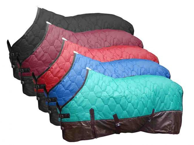 Dark Horse Tack is proud to offer... Showman ® 420 Denier Quilted Nylon Blanket is Constructed of 420 Denier Outer Shell with 70 Denier Rip Stop Lining and Nylon Bound Edges. The Fitted, Contoured Sha