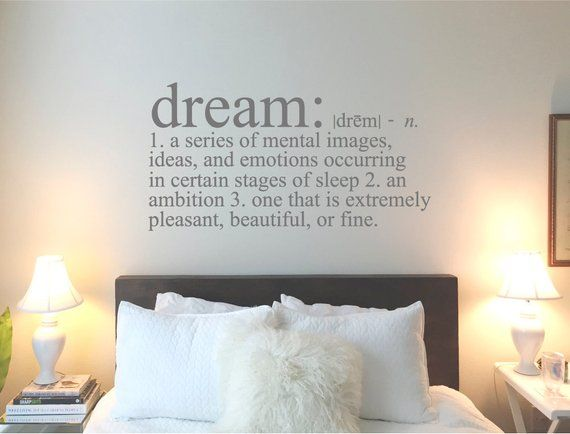 Dream Definition Wall Sticker Dream Wall Sticker Dream Wall