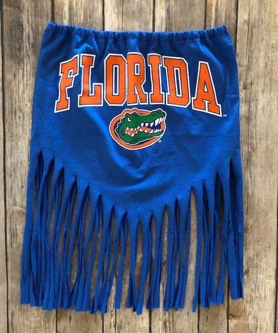 U Of Florida Gators Fringe Tube Top Tailgate Clothing Etsy Tailgate Outfit Gameday Outfit College Tailgate Outfit