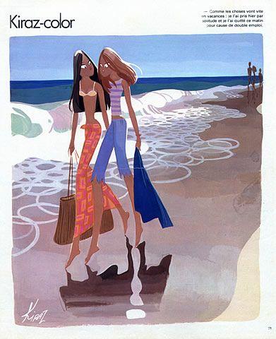 """Edmond Kiraz - Les Parisiennes, 1978 - """"Kiraz-color"""""""