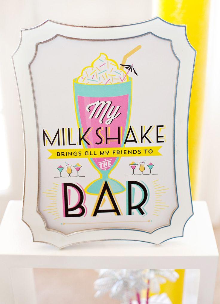 Retro Fun for Grown Ups: A Cocktail Milkshake Bar!