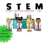 Free Posters for classroom use!  Use posters for bulletin boards, wall displays, etc. to promote STEM!  Includes: 8.5 x 11 Poster with science Kids...