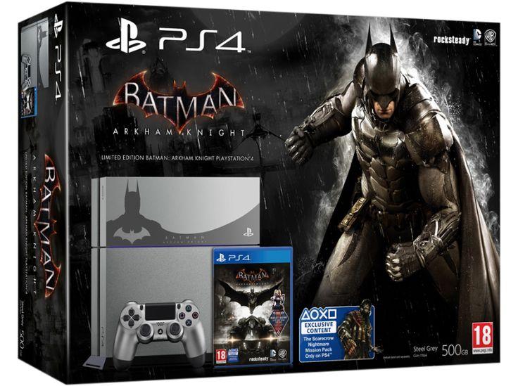 SONY Playstation 4 500 GB ezüst + Batman: Arkham Knight (limitált, ezüst színű)