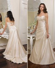 I want a champagne colored wedding dress.-Free Visa Giftcard :)