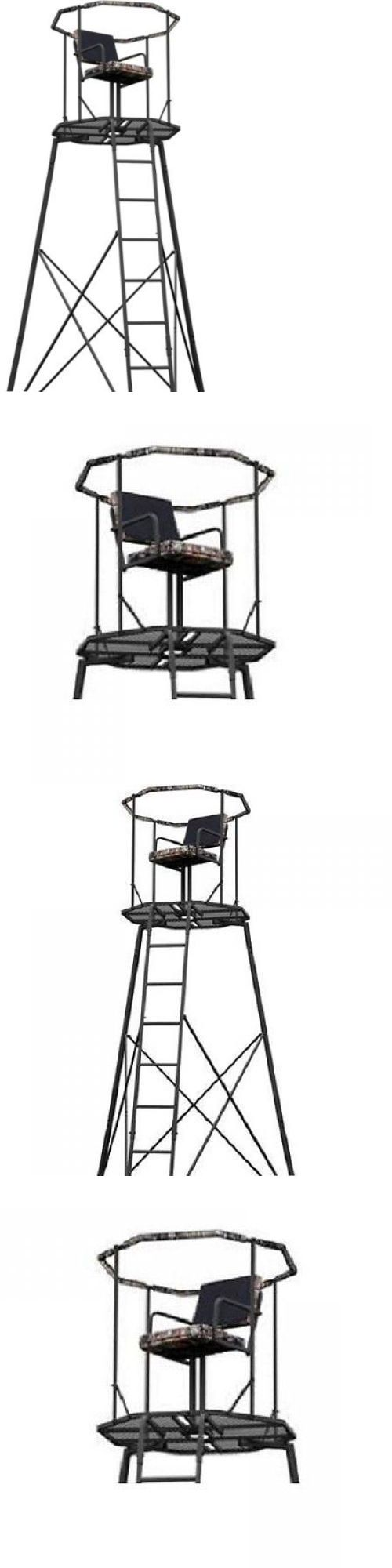 Tree Stands 52508: 15 Tripod Hunting Stand With Seat Tree Deer Ladder Bow Treestand Realtree New -> BUY IT NOW ONLY: $277.2 on eBay!
