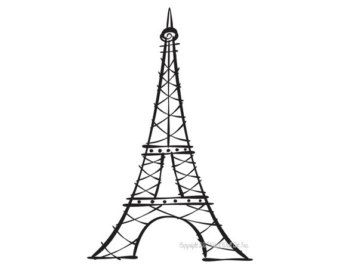create a shape of eiffel tower using following steps draw the frame of the eiffel
