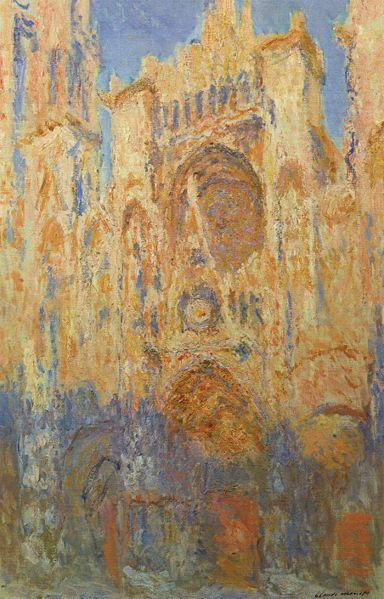 Impressie en kleur Het kleurgebruik is gebaseerd op de veranderlijke indrukken of impressies, die de eigen kleur van een voorwerp kan maken. (impressie van de kathedraal in middaglicht)