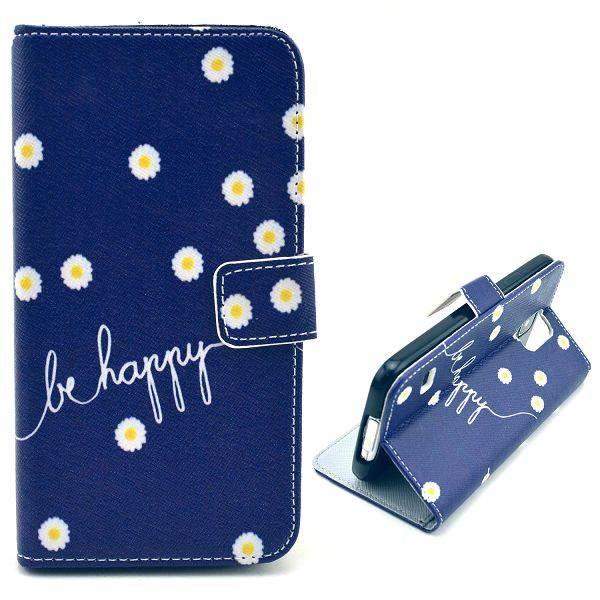 Be Happy booktype hoesje voor Samsung Galaxy S5 mini