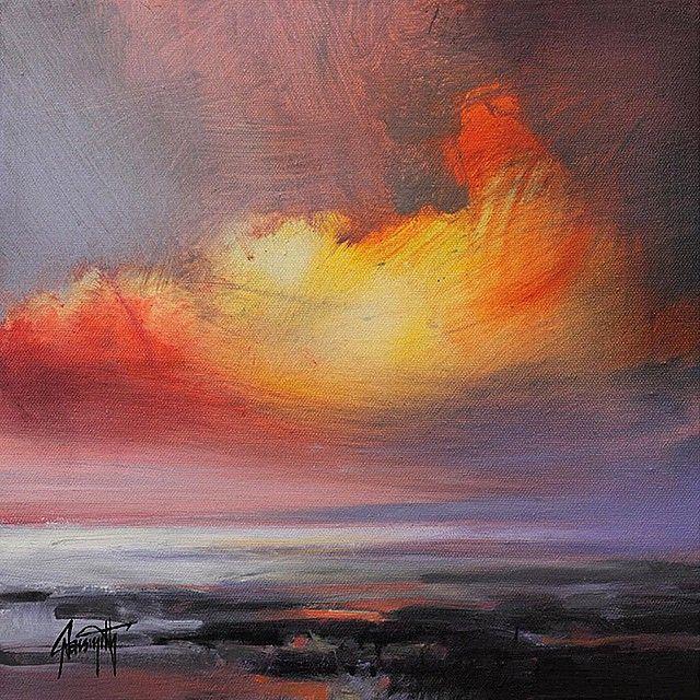 Translucent Sky Study 30x 30cm oil on linen #art #oilpainting #sky #cloudscape #cloudporn #scottishart