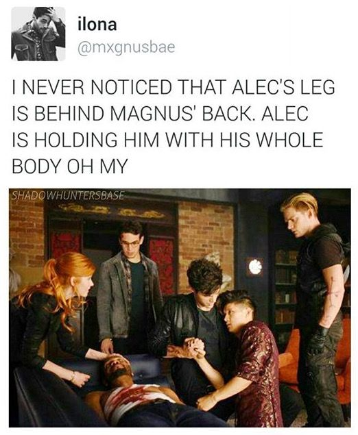 I don't usually like the shadow hunters TV show stuff, but this is Malec so exception s are being made.