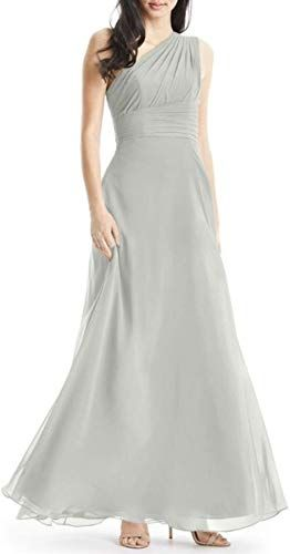 Best Seller YUSHENGSM A-Line One Shoulder Chiffon Bridesmaid Dresses Long Evening Party Prom Gowns online