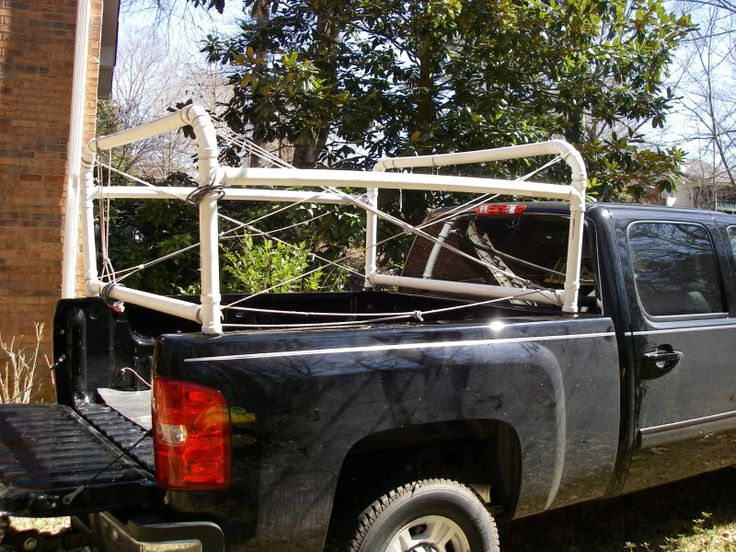 Truck Bed Kayak Rack >> diy pvc canoe rack for truck - Google Search | Pvc tent, Canoe rack, Tent camping beds