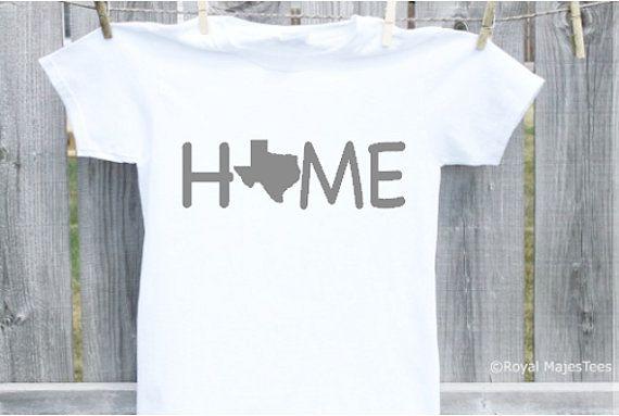 Texas Home Shirt by RoyalMajesTees on Etsy #texas #home #shirt #kids #childrens #boy #girl #baby #infant #toddler #child #shirt #apparel #clothing #clothes #state #tshirt #teeshirt #love #lonestar #gift #handmade #etsy #etsylove #etsyfinds
