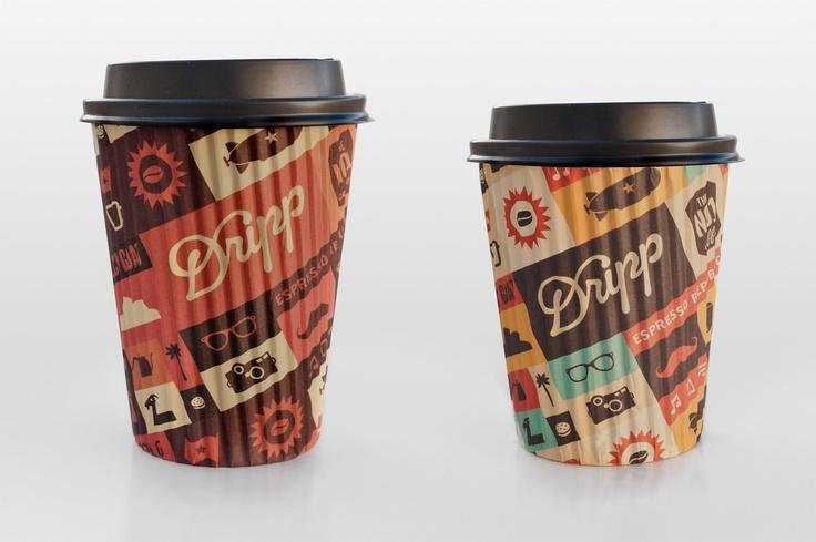 Dripp Hot Paper Cup  by Salih Kucukaga