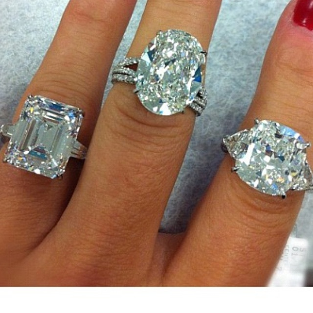 Diamonds are a girls best friend.  The oval has my name written all over it!  love!!