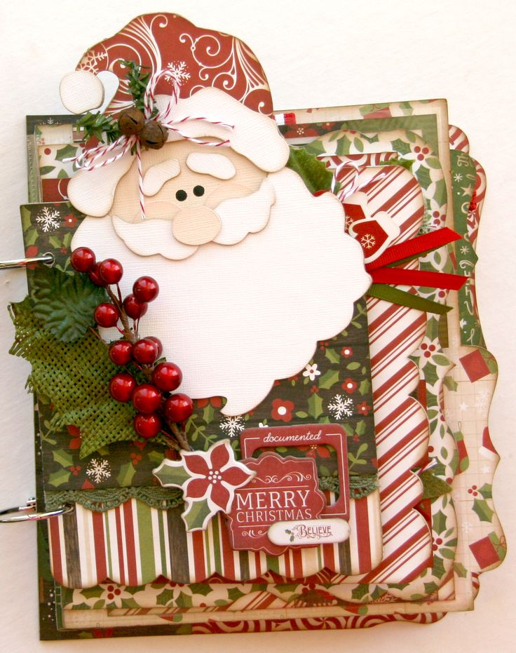 Do you believe in Santa?  This custom shaped album is so cute for Christmas photos and makes the perfect holiday gift.  #Echoparkpaper #TheStoryofChristmas