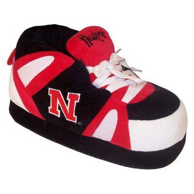 Comfy Feet NCAA Sneaker Boot Slippers - Nebraska Cornhuskers, Size: Large (Mens 8 - 9.5/Womens 9 - 10.5) - NEB01LG