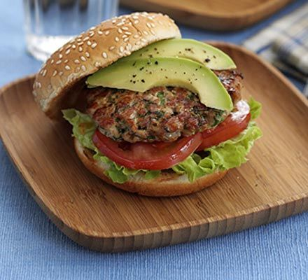 Fresh tuna burger -- This recipe turns burgers into something special, perfect for impressing friends
