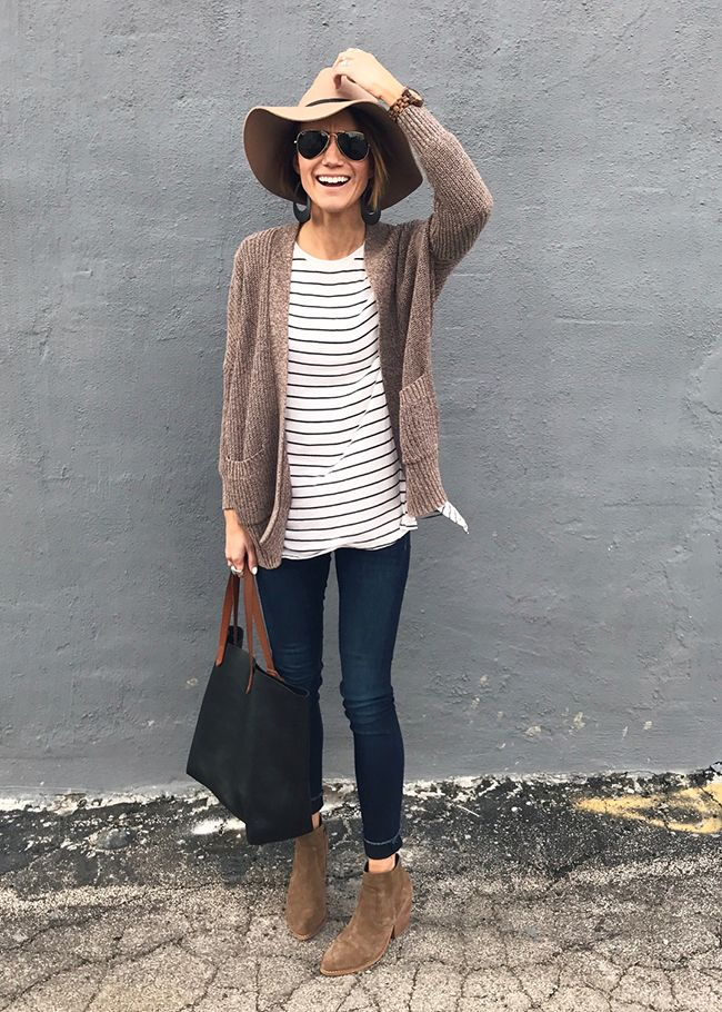Winter Everyday Style Ideas, including leather earrings, ankle boots, bandana, beanie, camo jacket, cardigan, distressd denim, everyday style, hiking boots, otk boots, sneakers, stripes, sweatshirt, velvet booties, vest