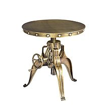 Fabulous modern yet traditional industrial crank cocktail table  www.critellifurniture.com