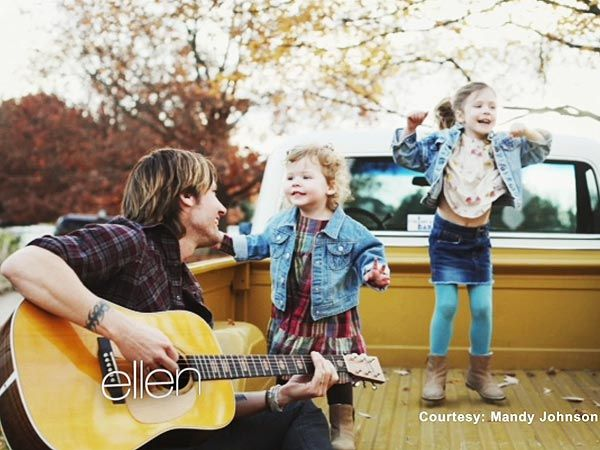 Keith Urban with daughters Faith Margaret and Sunday Rose-so precious!!!