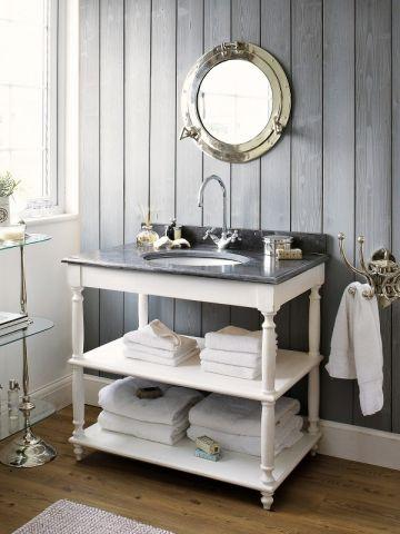 17 meilleures id es propos de miroir hublot sur - Meuble salle de bain vintage ...