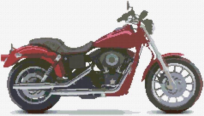 Cross Stitch | Harley Davidson Motorcycle xstitch Chart | Design
