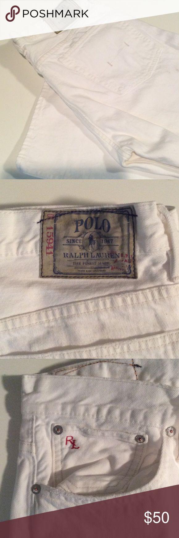 Men's White Ralph Lauren Jeans 🆕 Never worn white Ralph Lauren Jeans. In great shape. Great for summer. Lauren Ralph Lauren Jeans Bootcut