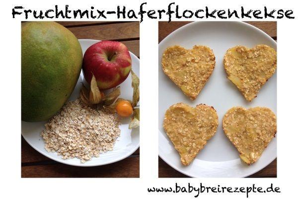 (Altersempfehlung: ab dem 6.Monat) Die Kekse können von den Kleinen super aus der Hand gegessen werden (bitte niemals ohne Aufsicht!). Gerade für kleine Breiverweigerer eine tolle Nachmittags-Alternative statt Getreide-Obst-Brei. Fruchtmix-Haferflockenkekse - Rezept  Ausdrucken Zutaten Früchte (hier: Mango, Apfel, Physalis) Haferflocken Zubereitung Früchte schälen und in Stücke schneiden in einem Topf mit Wasser bedecken und …