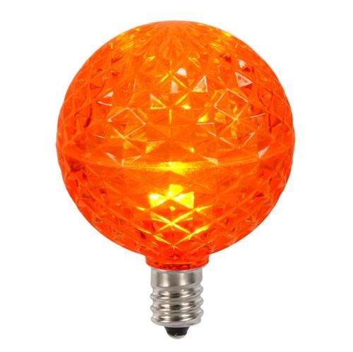 Club Pack Of 25 Led G50 Orange Replacement Christmas Light Bulbs