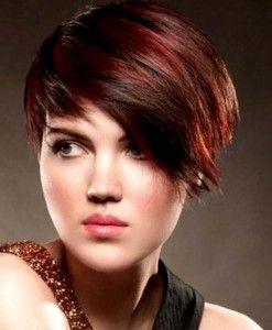 Kurze Haare Mit Roten Strähnchen Strähnchen Ideen Für