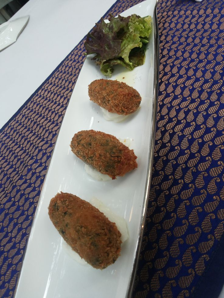 Masala Palak and tofu croquet