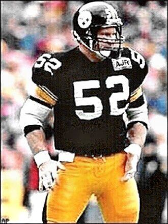 "Mike Webster was an American football player who played center in the National Football League from 1974 to 1990 with the Pittsburgh Steelers. He is a member of the Pro Football Hall of Fame. ""Iron Mike"" anchored the Steelers' offensive line during much of their run of four Super Bowl victories from 1974 to 1979 and is considered by some as the best center in NFL history."