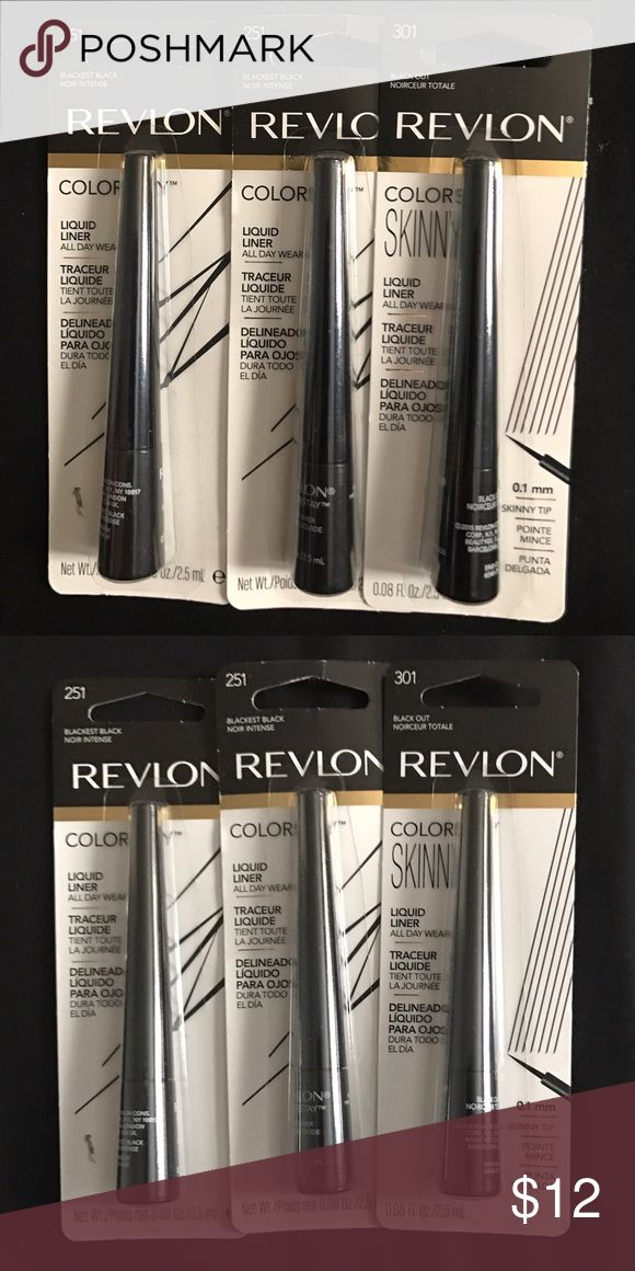 Eyeliner Brand new still in there packages Revlon eyeliner (OBO) Revlon Makeup Eyeliner