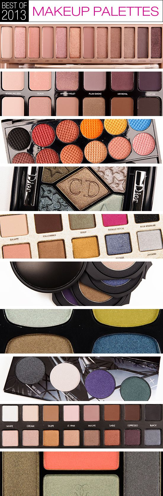 Top 10 of 2013: Best Makeup Palettes