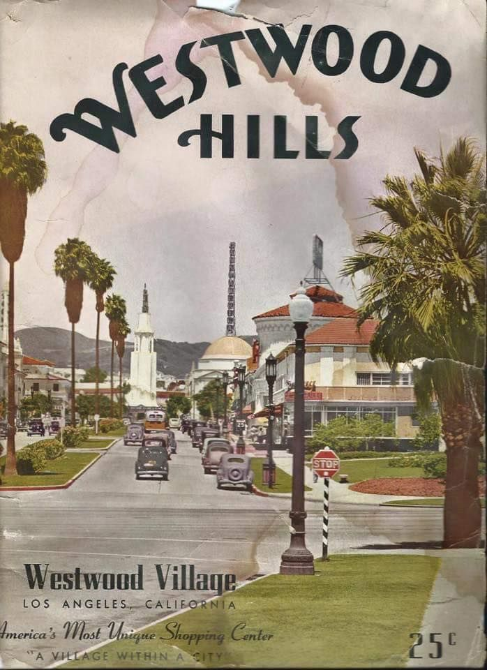 This beautiful magazine advertising Westwood Village was published by Westwood Hills News Publishing. It ran from 1937-1941 as a weekly magazine and cost 25 cents.