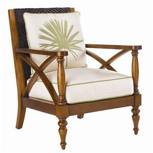 Island Estate Loose Back Avalon Wicker Chair by Tommy Bahama Home - Baer's Furniture - Exposed Wood Chair Miami, Ft. Lauderdale, Orlando, Sarasota, Naples, Ft. Myers, Florida