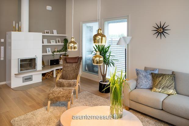 4 Omatalo Uniikki - Olohuone | Asuntomessut