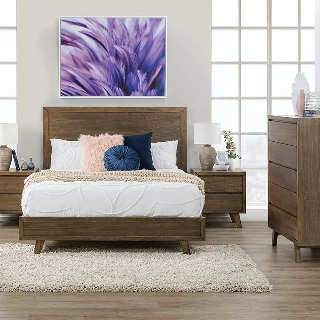 So Much New Introducing The Athena Bedroom Suite To Our Range Featuring A Sleek Modern Design In A Light Walnut Colour Am Bedroom Suite Furniture Home Decor