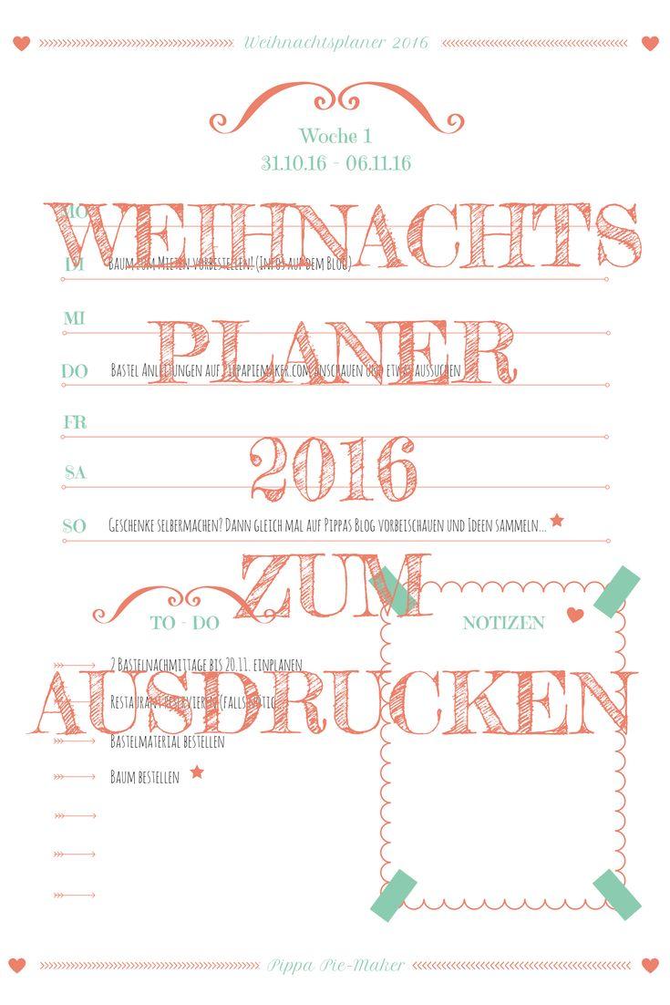 1000+ ideas about weihnachtsplaner on pinterest | lebkuchen
