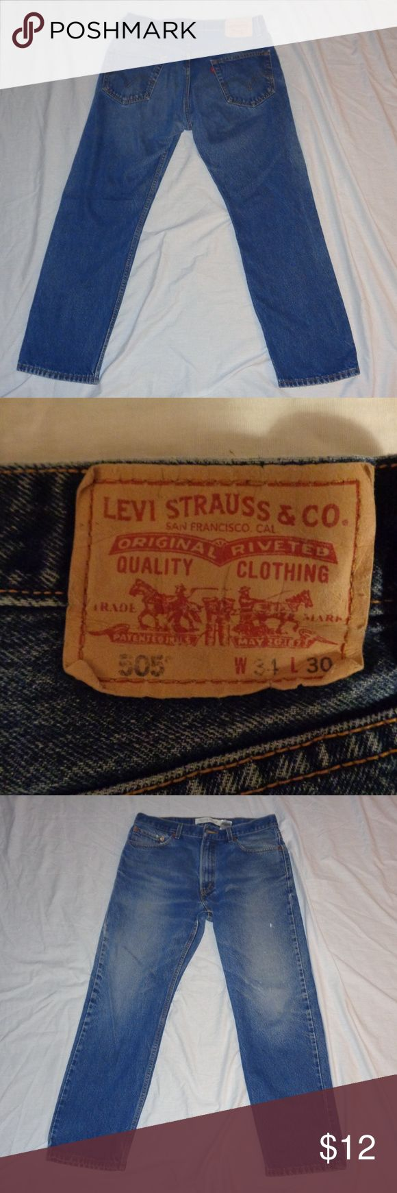 Levi 505 Jeans  Regular Fit 34 W 30 L Pictures Show details Please Bundle for Better deals, Offers always welcome! Levi's Jeans