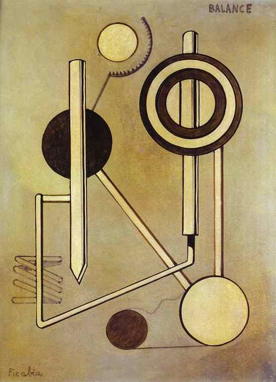 Balance, c.1919. Oil on cardboard. Francis Picabia (1879-1953) was a French painter, poet, and typographist, associated with Cubism, Abstract art, Dada, and Surrealism. Picabia continued his involvement in the Dada movement through 1919 in Zürich and Paris, before breaking away from it after developing an interest in Surrealist art. He denounced Dada in 1921, and issued a personal attack against Breton in 1924.