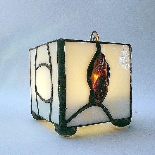 GIFT. Rare Baltic Amber Lantern (candlestick) hand-made // PREZENT. Bursztynowy lampion-świecznik hand made