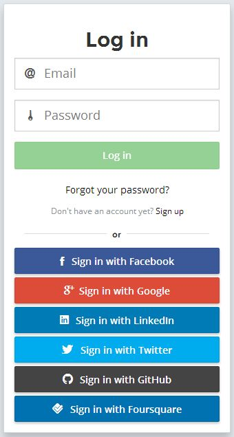 Satellizer is a simple to use, end-to-end, token-based authentication module for AngularJS with built-in support for Google, Facebook, LinkedIn, Twitter authentication providers, plus Email and Password sign-in method.