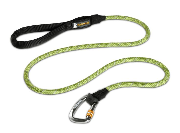 The Ruffwear knot-a Leash dog leash is comfortable and convenient with a tubular webbing handle and accessory loop. Integrated reflectivity for low-light visibility.