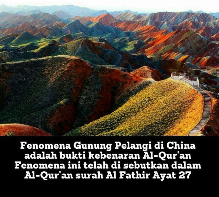 """Tidakkah kamu melihat bahwasanya Allah menurunkan hujan dari langit lalu Kami hasilkan dengan hujan itu buah-buahan yang beraneka macam jenisnya. Dandi antara gunung-gunung itu ada garis-garis putih dan merah yang beraneka macam warnanyadan ada (pula) yang hitam pekat. [QS: Al Fathir: 27] .  Semoga informasi yang ada dalam Al-Quran semakin menambah keyakinan kita akan kebenaran Al-Qur'an. http://ift.tt/2f12zSN"