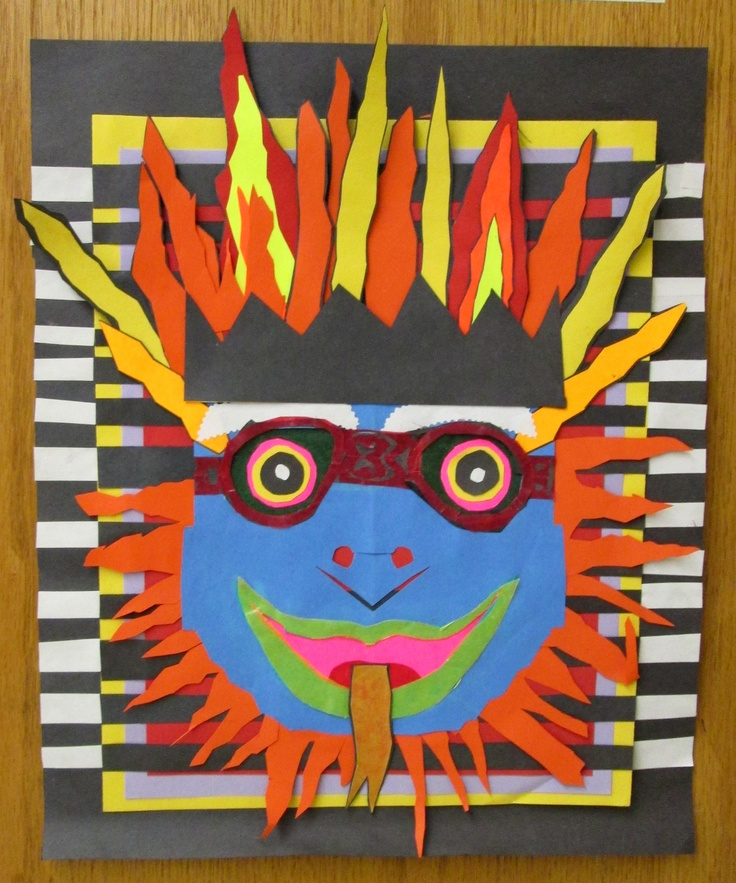 7th Grade Art, Balinese Mask, Rye Middle School, 2011-2012