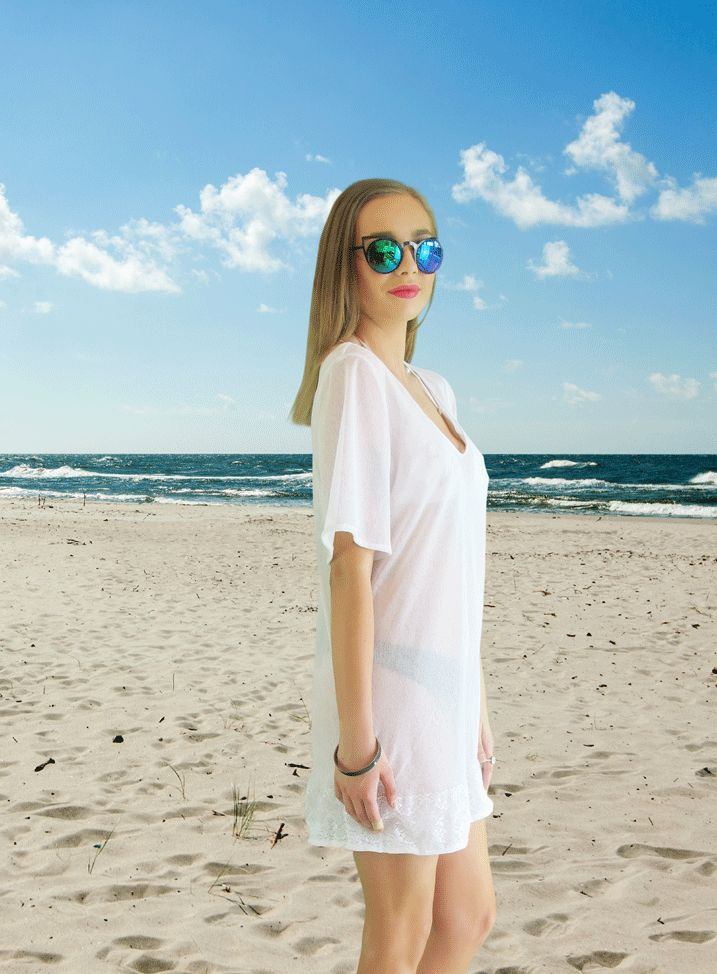 The Frolic White Beach Coverup