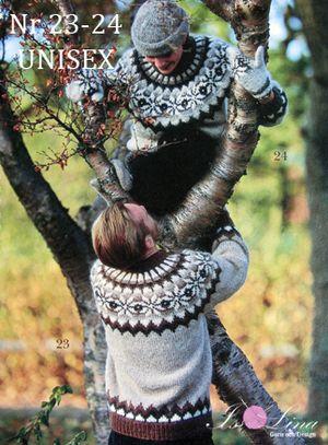 **Free pattern in Swedish Mönster - UNISEX 23-24 - Isländsk stickad tröja i Álafoss Lopi