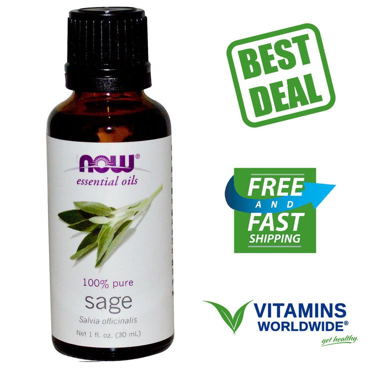 Now Foods, Essential Oils, Sage, 100% Pure Salvia Officinalis, 1 fl oz (30 ml) #NOWFoods